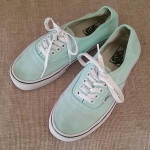 Vans mint green sneakers casual shoes size 8.5